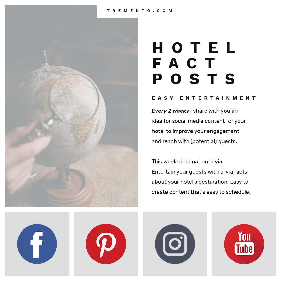 Learn how to create social media hotel - Destination Trivia Information Posts SQ