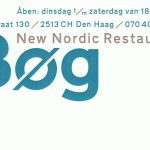 Check out the logo of restaurant Bøg, a Nordic restaurant in The Hague. The logo is simple and stylish.