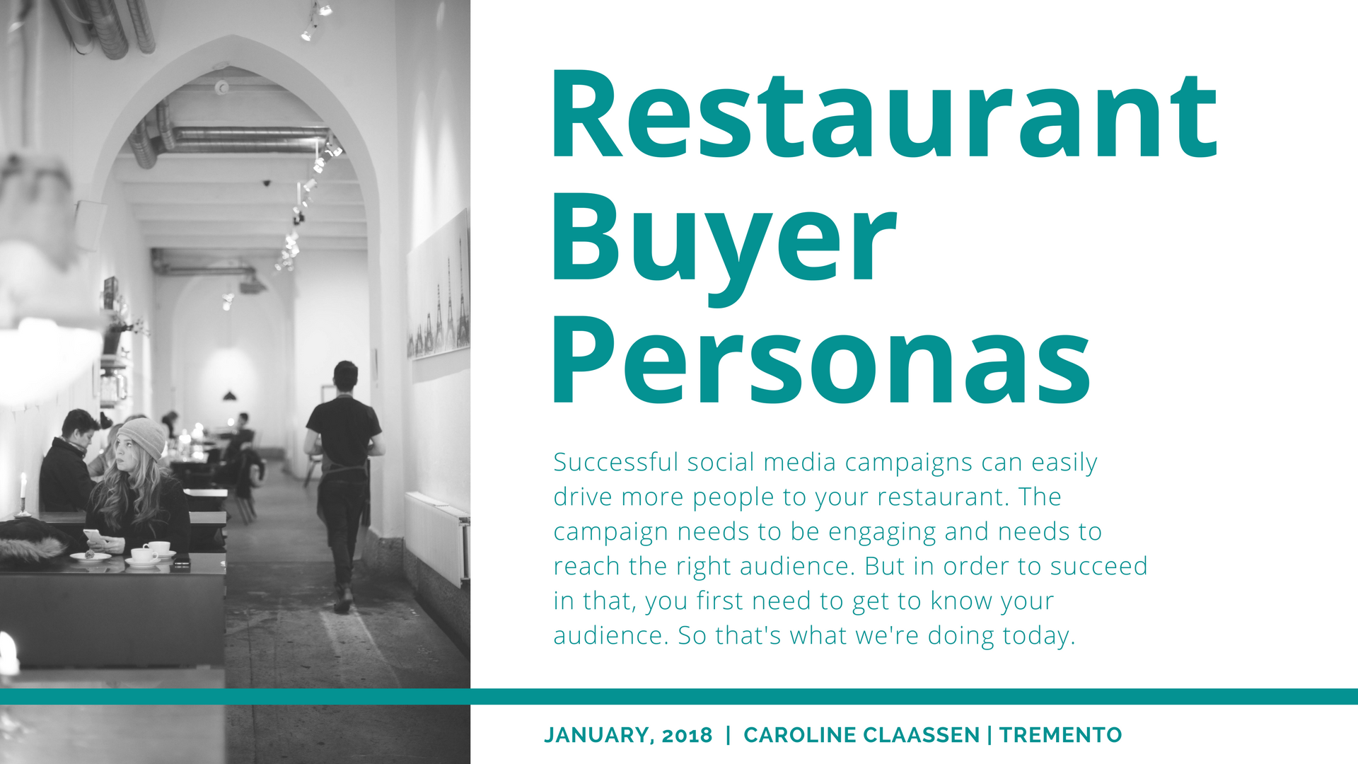 How to create a buyer persona for your restaurant, café or bar