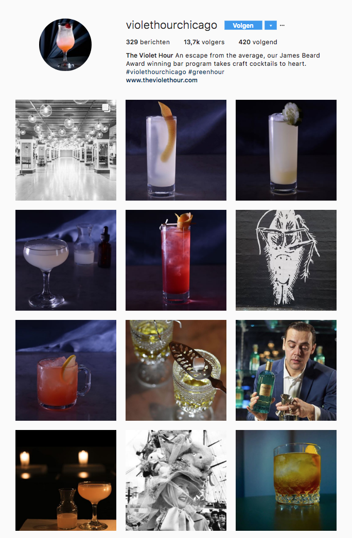 The Violet Hour - Instagram Cocktail Bar - Hospitality Content Creation Tremento