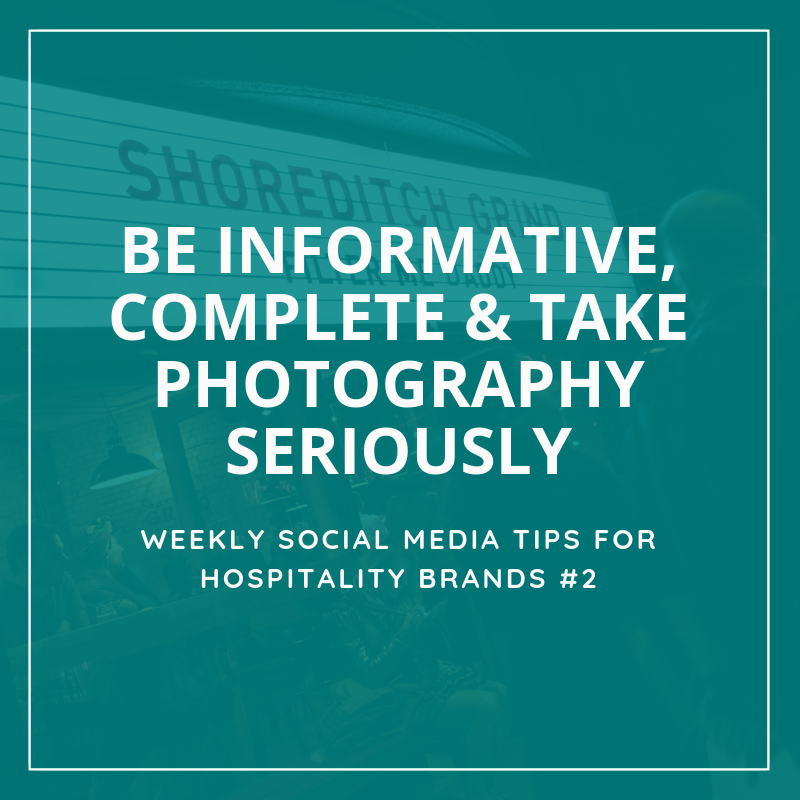 Social media tips for hospitality brands - Restaurants, cafés, hotels, hostels