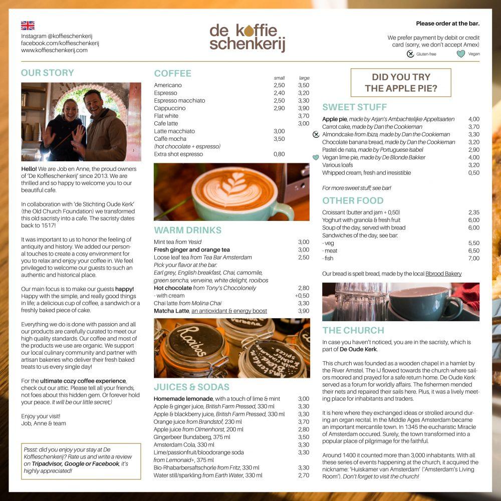 De Koffieschenkerij - Menu Opzet 3-1