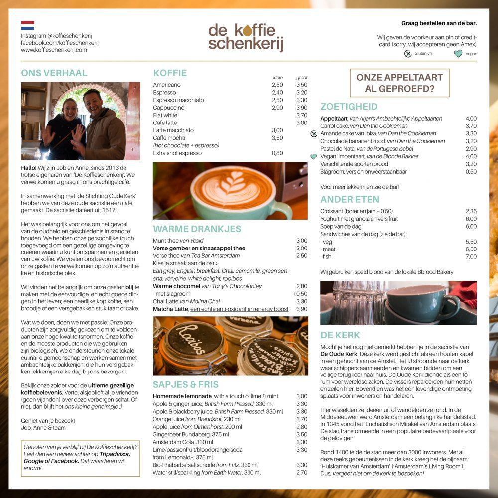 De Koffieschenkerij - Menu Opzet 3-2