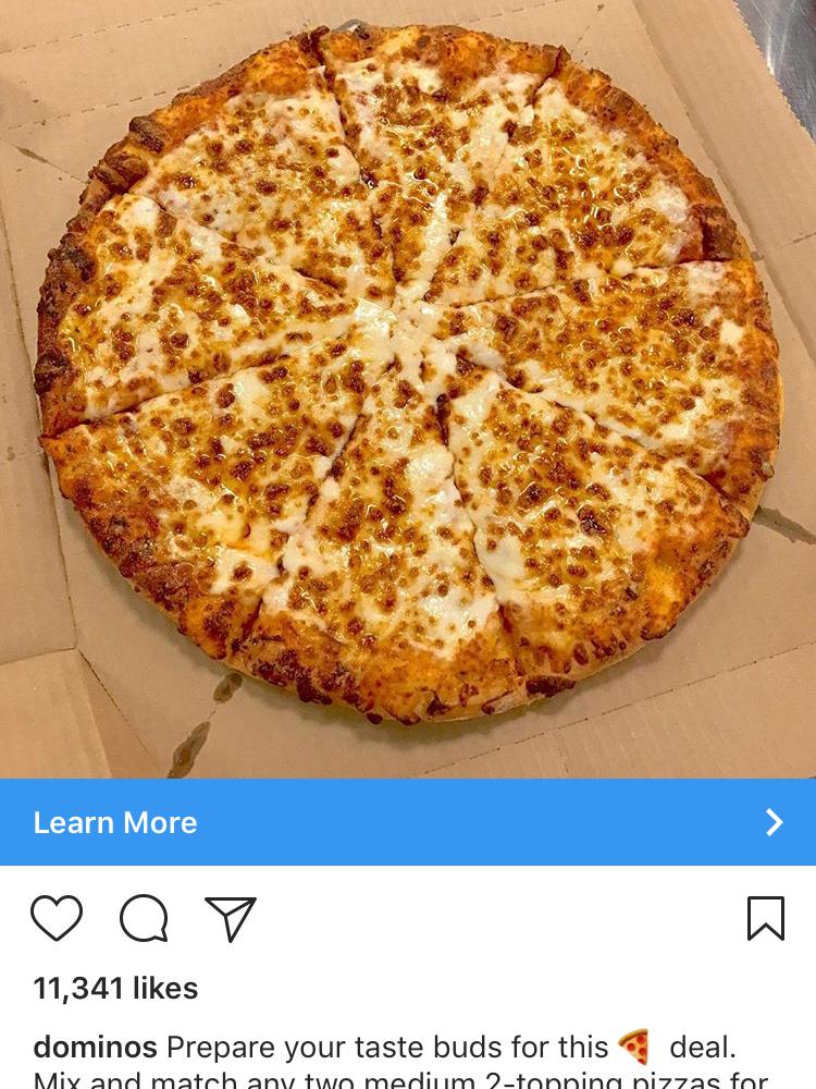 Instagram Ads Hospitality - Dominos