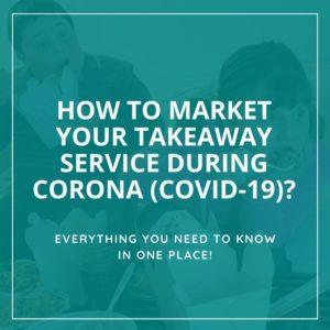 Takeaway advertising during Coronavirus