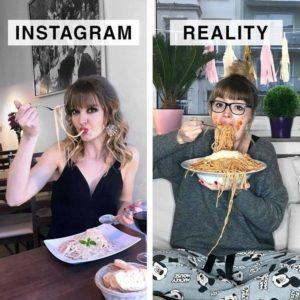 Fake vs Real Instagram post