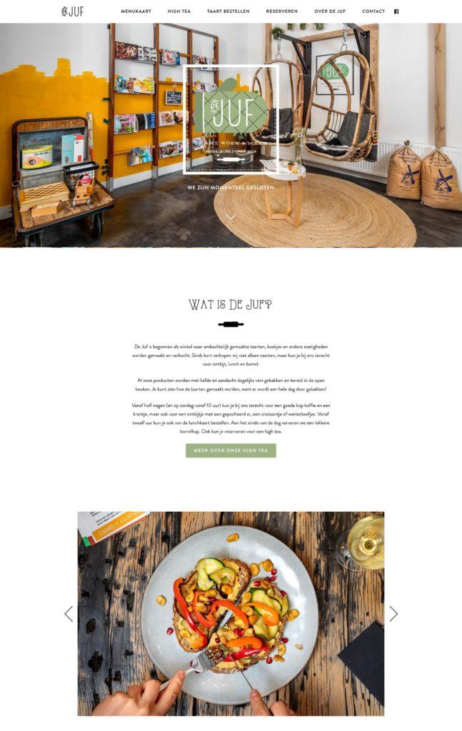 Coffee Shop Web Design Inspiration - De Juf Middelburg