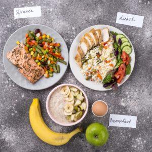 Healthy balanced menu for day