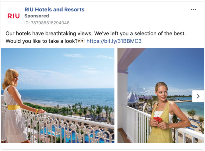 Showing a sneak peak of the experience through photos and creating an ad through online hotel advertising.